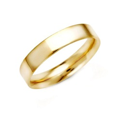 Gold banded wedding ring