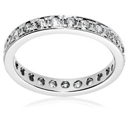 Silver eternity ring for woman