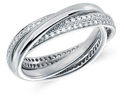Interlocking triple wedding ring